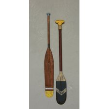 2 Piece Waterside Paddle Wall Décor Set