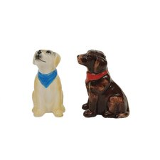 Bistro 2 Piece Labrador Dog Salt and Pepper Shaker Set