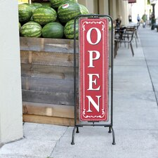 Bistro Metal Open / Closed 2-Sided Sign Holder