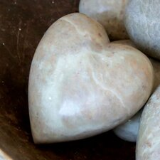 Simply Natural Soapstone Decorative Heart