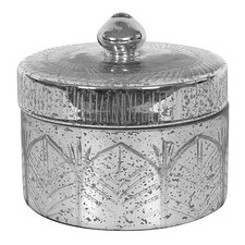 Chateau Round Mercury Glass Decorative Container with Lid