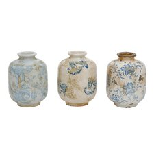 Indigo Terra Cotta Vase