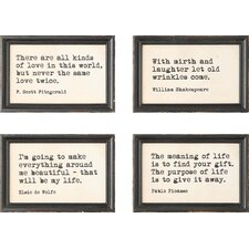 Sayings 4 Piece Framed Wall Art Set
