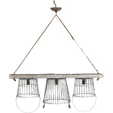 Casual Country 3 Light Kitchen Island Pendant