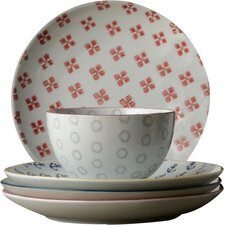 Waterside Round Ceramic Plate (Set of 4)