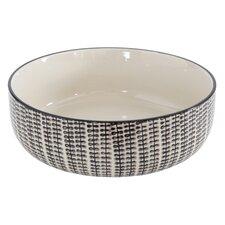 Gatherings Round Stoneware Hand Stamped Bowl
