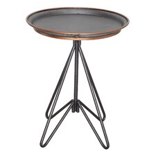 Garden Round Metal End Table