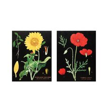 Floral Wood Wall Art (Set of 2)