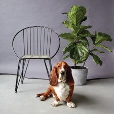 Palm and Fauna Metal Arm Chair with Round Back