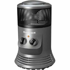 Honeywell Portable Electric Fan Tower Heater with Adjustable Thermostat