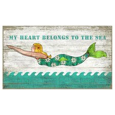 Diving Mermaid Wall Art by Suzanne Nicoll Vintage Advertisement Plaque