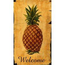 Pineapple Vintage Advertisement Plaque