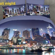 Dolce Mela NYC at Night 6 Piece Duvet Cover Set