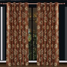 Dolce Mela Ceres Cotton Grommet Drape Single Curtain Panel