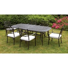 Versailles 6 Seater Dining Set with Cushions