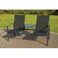 Companion 2 Seater Anthracite/Textilene Bench