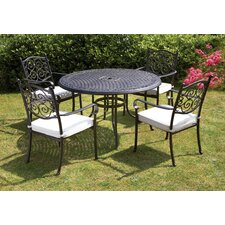 Versailles 4 Seater Dining Set with Cushions