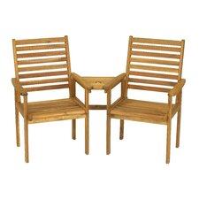 Napoli Companion 2 Seater Acacia Love Seat
