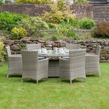 Wentworth 6 Seater Dining Set with Cushions