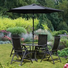 Sorrento 4 Seater Dining Set with Parasol