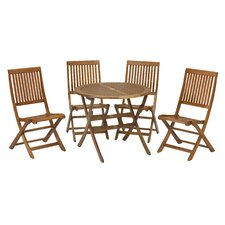 Torino 5 Piece Folding Table and Chair Set