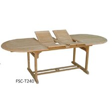 Hampton Double Extension Oval Teak Dining Table