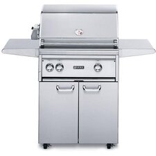 "27"" Gas Grill on Cart with ProSear Burner and Rotisserie"