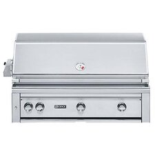 "42"" Built-In Gas Grill with ProSear2 -Rotisserie Burner"