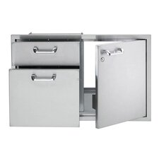 Storage Double Drawer Combination