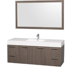 "Amare 60"" Single Bathroom Vanity Set with Mirror"