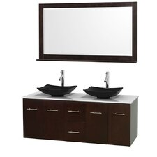 "Centra 60"" Double Bathroom Vanity Set with Mirror"