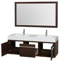 "Axa 60"" Double Bathroom Vanity Set with Mirror"