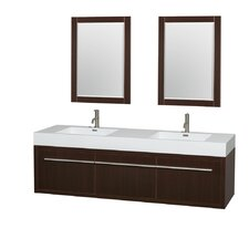 "Axa 72"" Double Bathroom Vanity Set with Mirror"
