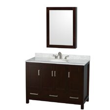 "Sheffield 48"" Single Bathroom Vanity Set with Mirror"
