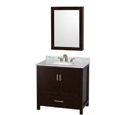 "Sheffield 36"" Single Bathroom Vanity Set with Mirror"