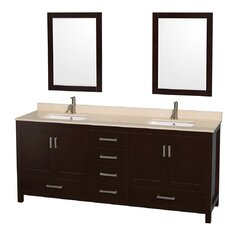 "Sheffield 80"" Double Bathroom Vanity Set with Mirror"