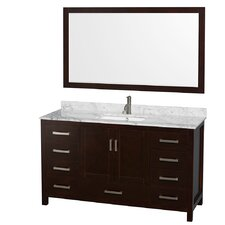 "Sheffield 60"" Single Bathroom Vanity Set with Mirror"