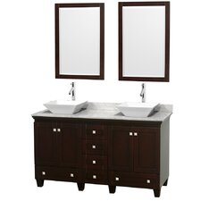 "Acclaim 60"" Double Bathroom Vanity Set with Mirror"