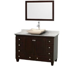 "Acclaim 48"" Single Bathroom Vanity Set with Mirror"