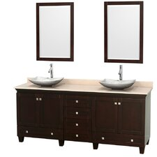 "Acclaim 80"" Double Bathroom Vanity Set with Mirror"