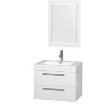 """Amare 30"""" Single Bathroom Vanity Set with Mirror"""