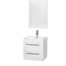 "Amare 24"" Single Bathroom Vanity Set with Mirror"