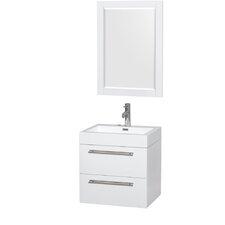 """Amare 24"""" Single Bathroom Vanity Set with Mirror"""