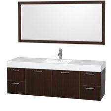 "Amare 72"" Single Bathroom Vanity with Mirror"