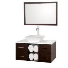 "Abba 36"" Single Bathroom Vanity Set with Mirror"