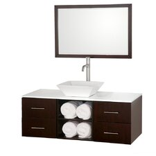 "Abba 48"" Single Bathroom Vanity Set with Mirror"