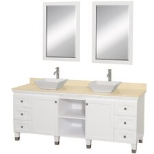 "Premiere 72"" Double Bathroom Vanity Set with Mirror"