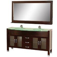 "Daytona 63"" Double Bathroom Vanity Set with Mirror"