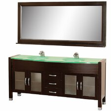 "Daytona 71"" Double Bathroom Vanity Set with Mirror"