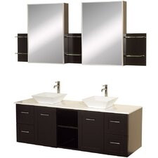 "Avara 60"" Double Bathroom Vanity Set with Mirror"